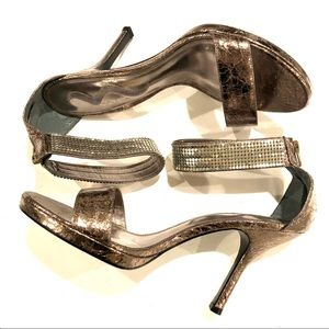 Nina Metallic Ankle Strap Heel